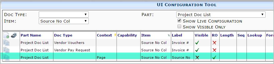 UI Default for Item on Document List