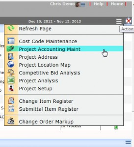 ProjectAccountingMaint