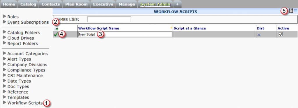 System Admin Workflow Scripts