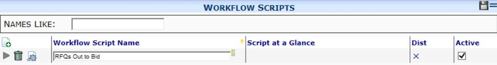 Workflow Scripts Tool