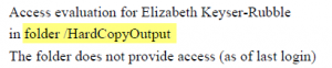Access Analysis Example 1