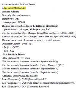 Access Analysis Example 2