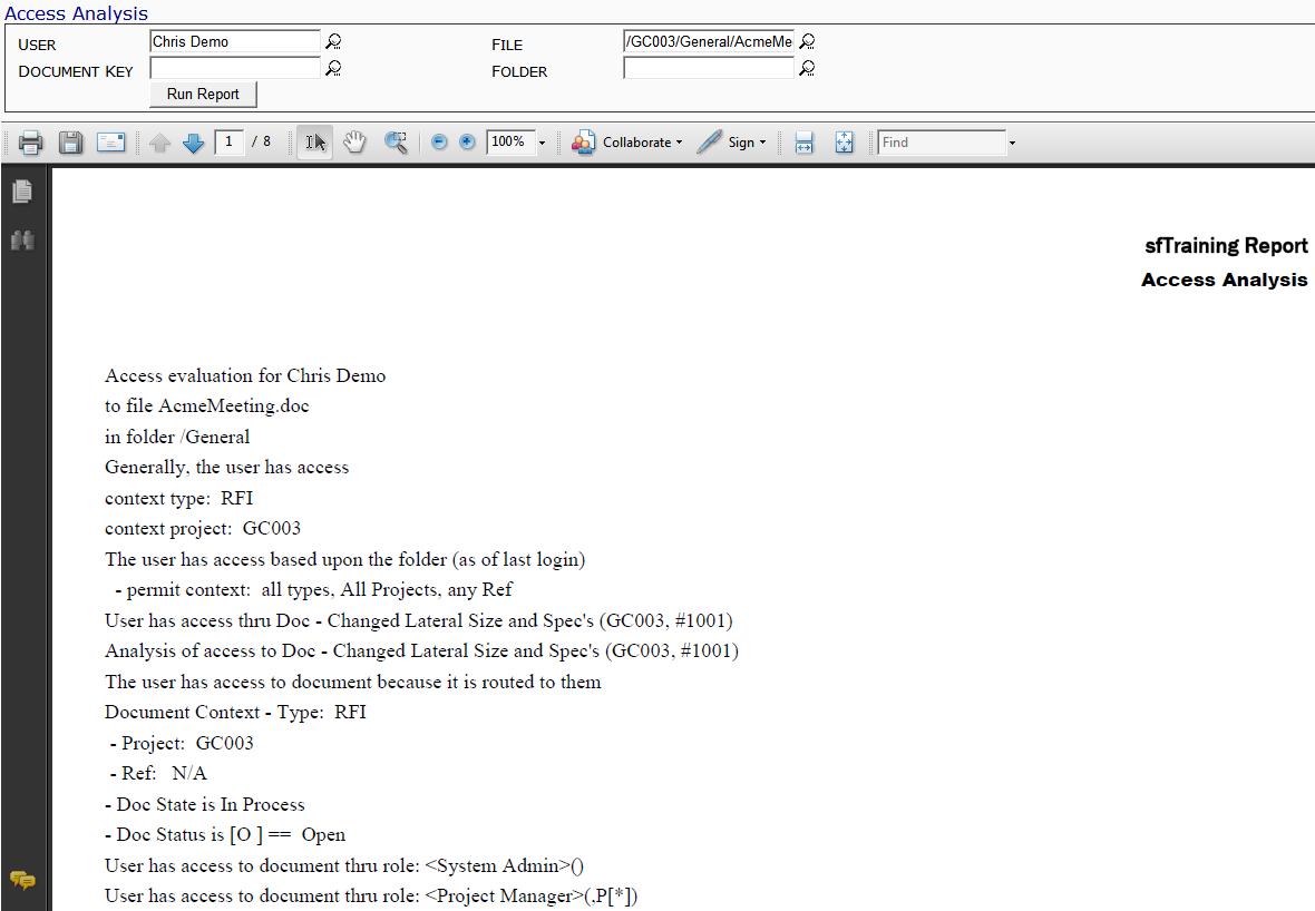 Access Analysis Report