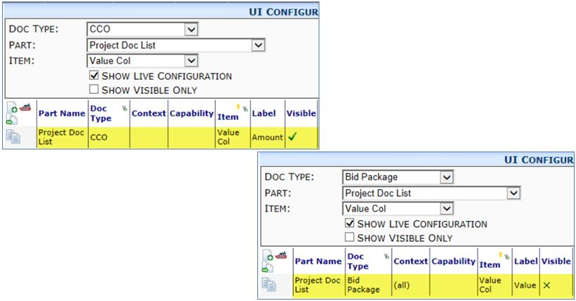 201606 UI Configuration Project Doc List