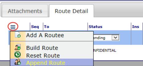 201607 Append Route option