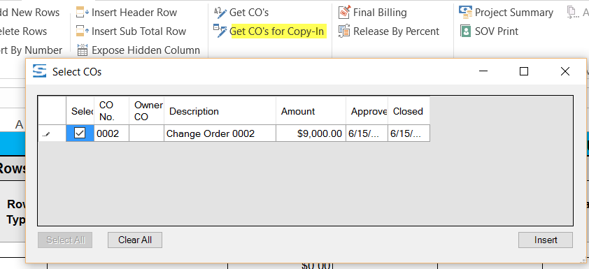 201607 Get COs for CopyIn